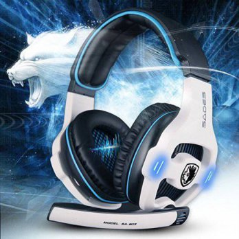 [holiczone] 7.1 Surround Sound Effect Sades SA-903 Build in Sound Card Gaming Headset Head/186306
