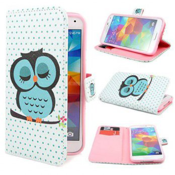 [holiczone] PpIiNnKk D79 Owl Design Wallet PU Leather Flip Case Cover for Samsung Galaxy S/189746