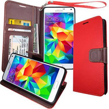 [holiczone] Mount S5 Premium [ Wallet ] Case, Samsung Galaxy S5, [Book Fold, Wristlet, Fol/192665