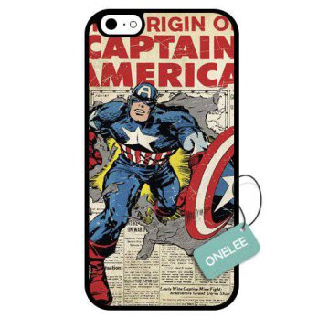 [holiczone] Onelee - Captain America Custom Soft Rubber TPU iPhone 6 Case & Cover - Black /197811