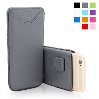 [holiczone] Snugg iPhone 6 / 6s Case - Leather Pouch with (Gray) for Apple iPhone 6 / 6s/199263