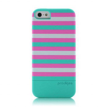 [holiczone] Prodigee 2 piece, Protective & Hard STRIPE Case, iPhone 5 - BUBLE GUM/199467
