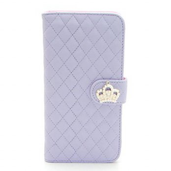[holiczone] ZZYBIA IP6 Plus 5.5 QC Light Purple Leatherette Stand Case Card Holder Wallet /214632