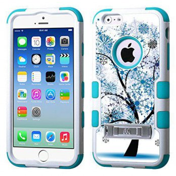 [holiczone] OneToughShield One Tough Shield Hybrid 3-Layer Case (White/Teal) with Kick-Sta/215241