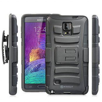 [holiczone] MiniSuit Minisuit Dual-Layer Rugged Kickstand Case + Belt Clip for Samsung Gal/224642