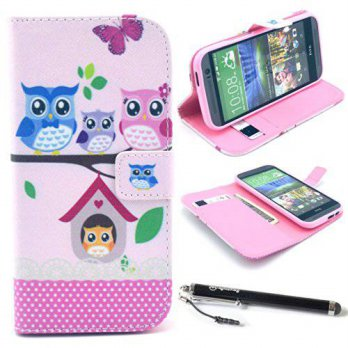 [holiczone] UrSpeedtekLive HTC One M8 Case, Speedtek OWL Pattern Premium PU Leather Wallet/225987