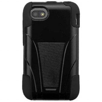 [holiczone] Amzer Double Layer Hybrid Case Cover with Kickstand for BlackBerry Q5 - Retail/229847