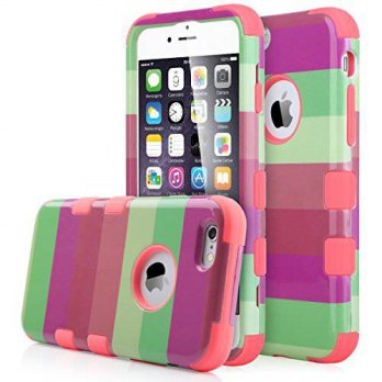 [holiczone] iPhone 6 Case, ULAK Shock Absorbing Case with Hybrid 3in1 Soft Silicone + Hard/232287