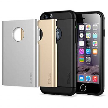 [holiczone] iPhone 6 Case, Slicoo TPU Case with Hard Plastic Case in 3 Color, Dual-layer P/233432