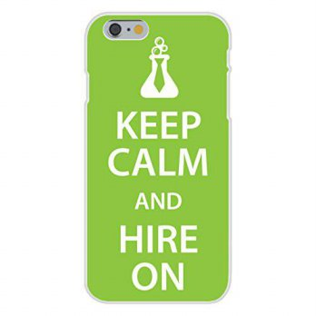 [holiczone] Hat Shark Apple iPhone 6+ (Plus) Custom Case White Plastic Snap On - Keep Calm/118551