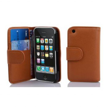 [holiczone] Cadorabo Apple Iphone 3 / 3G / 3GS case , CADORABO Iphone 3 Case Wallet [BROWN/146220
