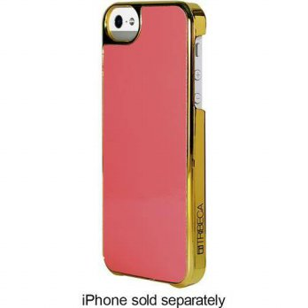 [holiczone] Tribeca Gold Trim Leather Hardshell Case for iPhone 5 - Coral Patent/149037