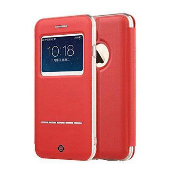 [holiczone] TOTU iPhone 6/6s Plus Case,[Touch Series][View Window] Folio Flip PU Leather C/151468