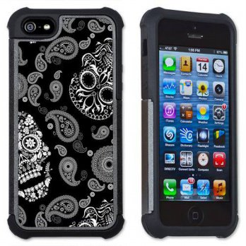 [holiczone] Art Plates White Sugar Skulls - Maximum Protection Case / Cover with Cushioned/151766