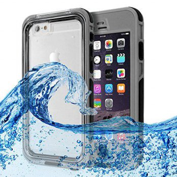 [holiczone] TNP Products iPhone 6 Plus Waterproof Case Gray - Water Resistant Underwater S/159490