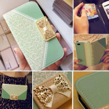[holiczone] Unknown Bow Lace Fashion Wallet Flip Feature with Credit/id Card Slots/holder&/184951