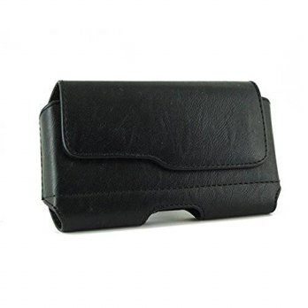 [holiczone] Ms Cell Shop Apple iPhone 6 Plus 5.5 Case - New Black Leather Holster Pouch Be/188041