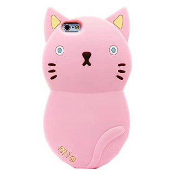 [holiczone] TFS iPhone 6 Case ,iPhone 6 4.7 Silicone cover ,3D Cute Cat Cartoon Designed S/185753