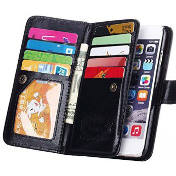 [holiczone] iPhone 6 Plus Case,Joopapa Luxury Fashion Pu Leather Magnet Wallet Credit Card/189320