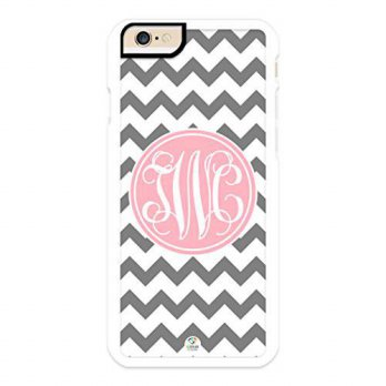[holiczone] IZERCASE iZERCASE iPhone 6, iPhone 6S Case Monogram Personalized Grey and Whit/189186
