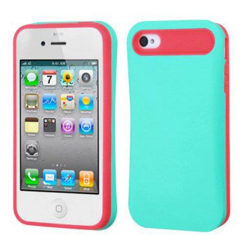 [holiczone] MyBat Apple iPhone 4s/4 Rubberized Card Wallet Back Protector Cover - Retail P/191796