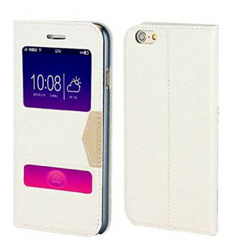 [holiczone] NVWA iPhone 6 Case, Nvwa Classic Series Smart Window View &Touch Premium Soft /198362