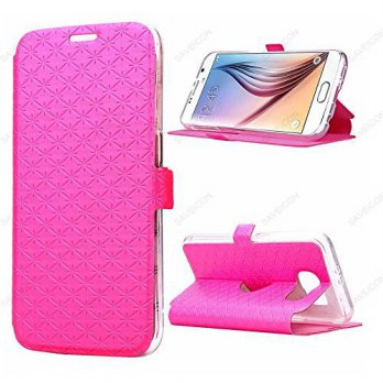 [holiczone] Galaxy S6 Case, SAWE [Wallet Style] Galaxy S6 Wallet Case - Premium Synthetic /201531