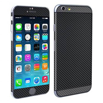 [holiczone] Decalrus - Apple iPhone 6 6s (with 4.7 screen) Two Tone BLACK & Grey Textured /201963