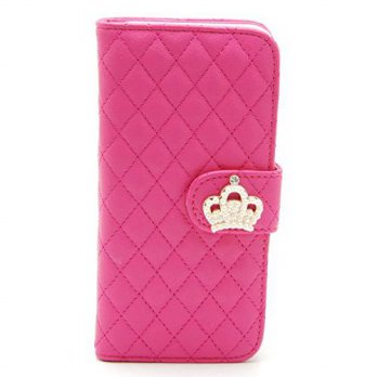 [holiczone] ZZYBIA IP6 4.7 QC Shocking Pink Leatherette Stand Case Card Holder Wallet for /202558