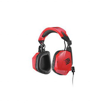 [holiczone] Mad Catz F.R.E.Q.3 Stereo Headset for PC, Mac, and Smart Devices,Red/204246