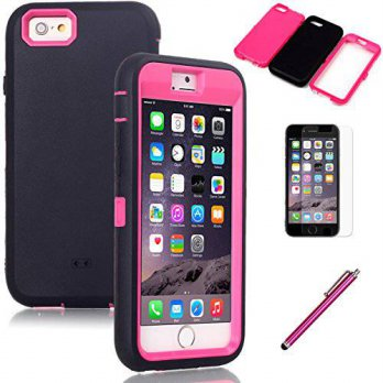 [holiczone] iPhone 6 Case, EC 3 in 1 Hybrid High Impact Armor Defender Case Covers for App/213881