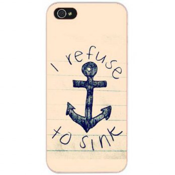 [holiczone] DECO FAIRY Black Pink Anchor I refuse to sink Snap on Case Cover for Apple iPh/208229