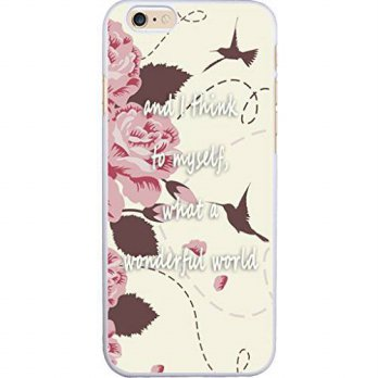 [holiczone] Hungo Case for Iphone 6, Iphone 6S Cover Quotes Theme And I Think To Myself Wh/211155