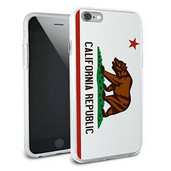 [holiczone] Graphics and More California Republic Flag Protective Slim Hybrid Rubber Bumpe/216069