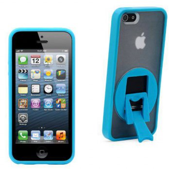 [holiczone] Aduro KICKER Snap-on Case with Kickstand for Apple iPhone 5 (Blue)/221683
