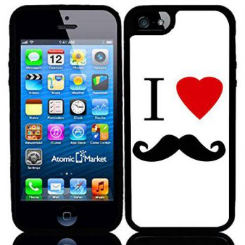 [holiczone] I Heart Love Mustache Case / Cover For Apple Iphone 6 or 6S by Atomic Market/222035