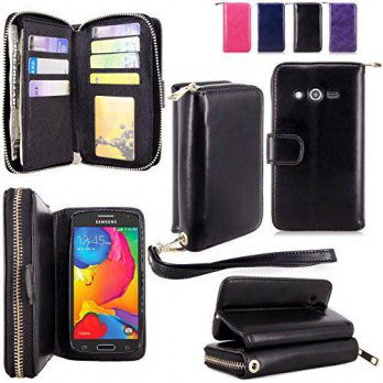 [holiczone] CellularVilla For Samsung Galaxy Avant Case - Cellularvilla PU Leather Flip Wa/238130
