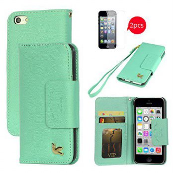 [holiczone] Hilda iPhone 5c Case,By HiLDA,Wallet Case,PU Leather Case,Credit Card Holder,F/237376