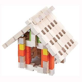 [] Wooden funKids - Japanese Children Creative architectural space blocks (128pcs)
