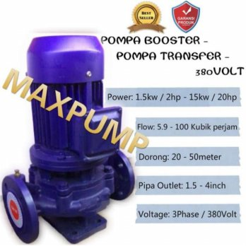 POMPA BOOSTER AIR POMPA TRANSFER 3PHASE 3INCH 15HP PUMP POMPA DORONG 11kw / 15Hp