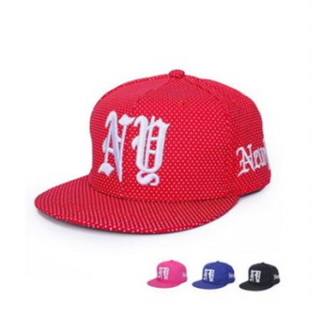Cap embroidered hip-hop hat men and women sun hat wave point color 73dd16 [5] Milan boutique