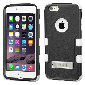 [holiczone] MyBat TUFF Hybrid Phone Protector Cover with Stand for Apple iPhone 6 Plus - R/246534
