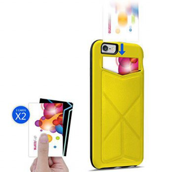 [holiczone] IKare iPhone 6 6S Case, iKare [KICK STAND] Wallet Case With Card Holder Dual L/247070