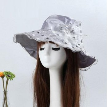 Bow visor beach hat hat female romantic elegant outdoor outing color 73dc5 [5] Milan boutique