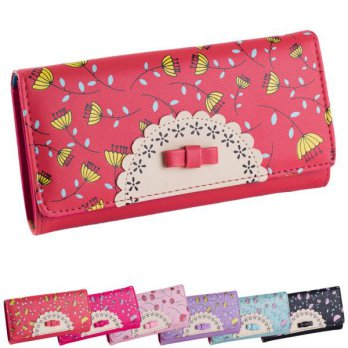 Sweet College Wind Female Bowknot Wallet