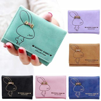 New Lady Women Clutch Short Purse Leather Wallet Card Holder Handbag Bag
