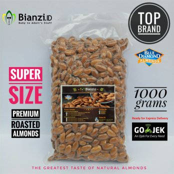 Premium Blue Diamond - Roasted Almond (SUPER SIZE) - 1000 gram (Kacang Almond Panggang)
