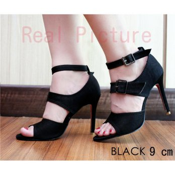 Threasure |HF5021-178| Sued | High heels sepatu sandal pesta heel ankle Gelang wanita import