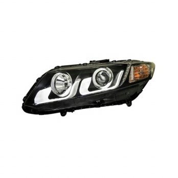 HD596-B7W2C-BH HONDA CIVIC 12-13 HEAD LAMP - LIGHT BAR - BLACK HOUSING