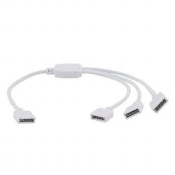 [macyskorea] Uxcell LED RGBW Color Strip 5Pin Female Connector 1 to 3 Splitter Cable White/12377433